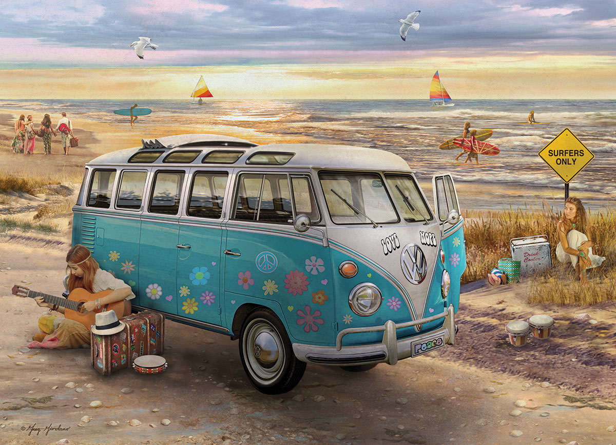 the love hope vw bus jigsaw puzzle. Black Bedroom Furniture Sets. Home Design Ideas