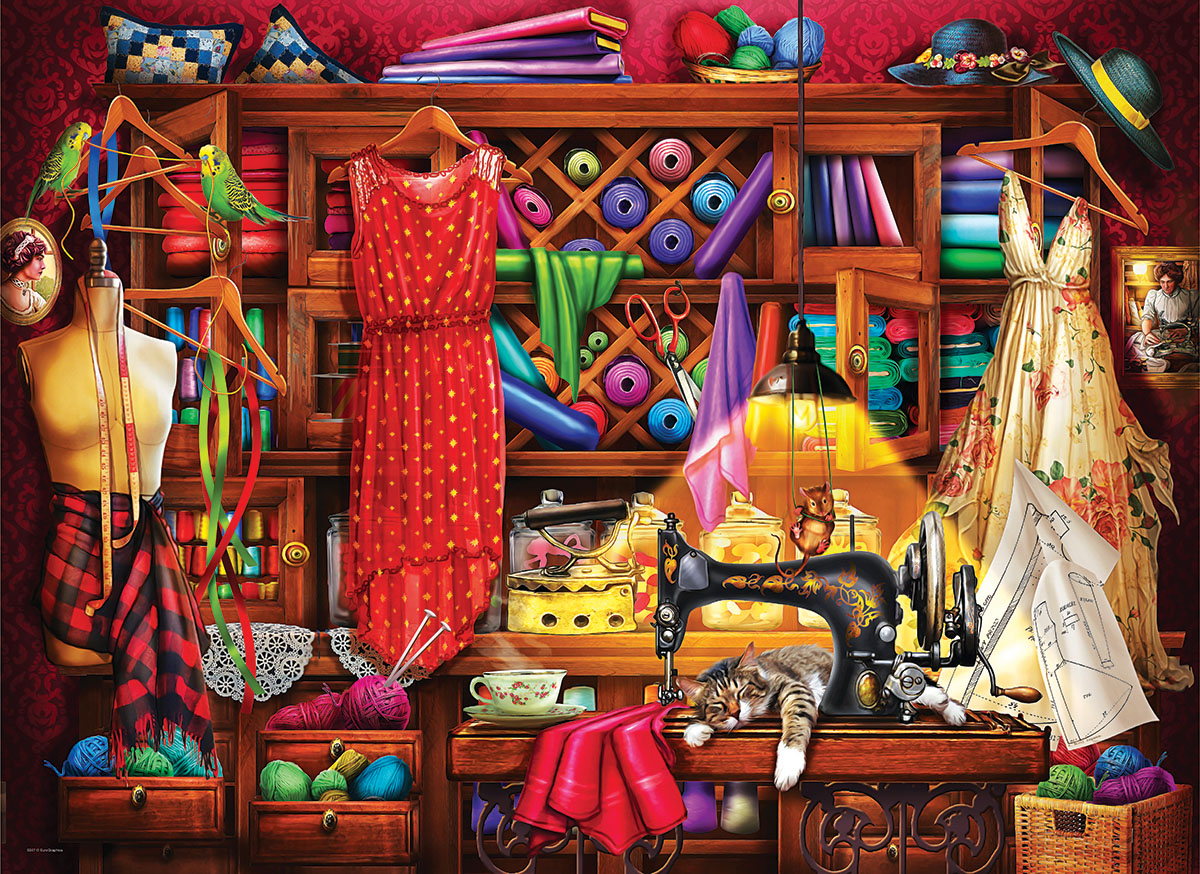 Sewing Room Crafts & Textile Arts Jigsaw Puzzle