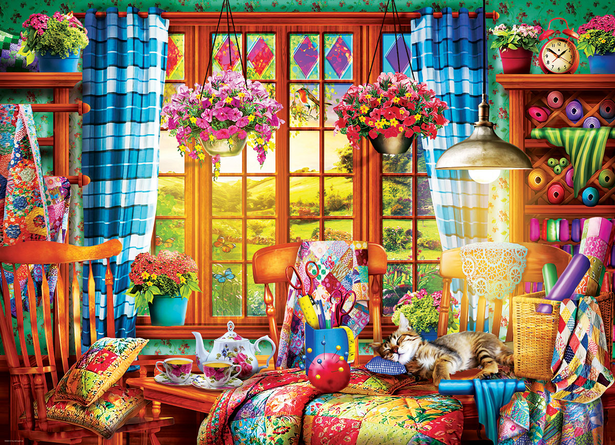 Quilting Craft Room Crafts & Textile Arts Jigsaw Puzzle