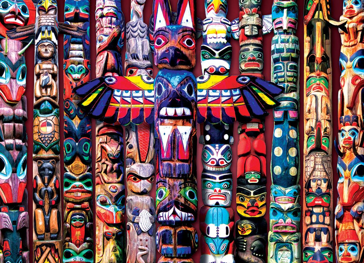 Totem Poles Pattern / Assortment Jigsaw Puzzle
