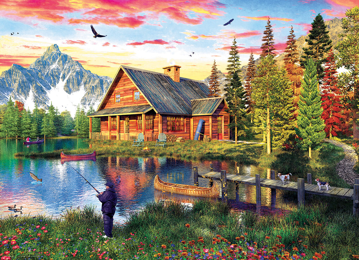 The Fishing Cabin Cottage / Cabin Jigsaw Puzzle