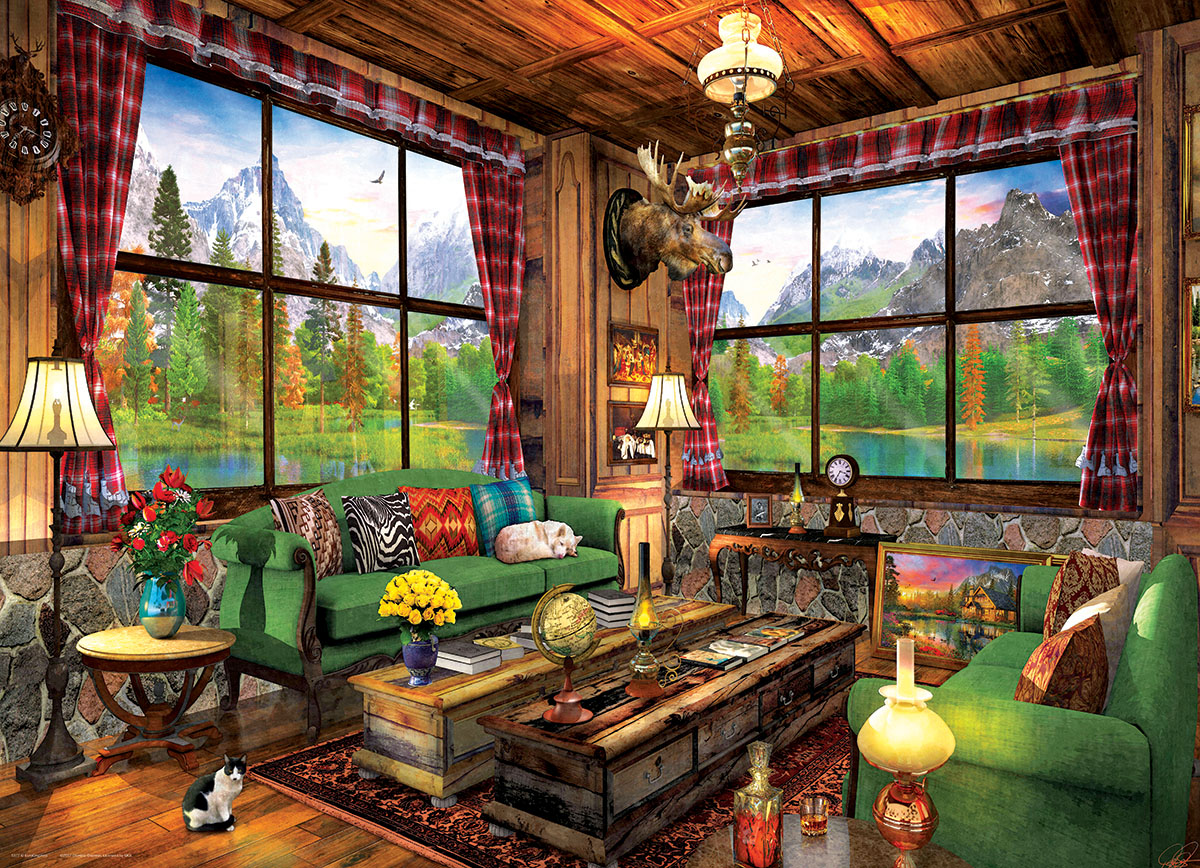 Cozy Cabin - Scratch and Dent Cottage / Cabin Jigsaw Puzzle