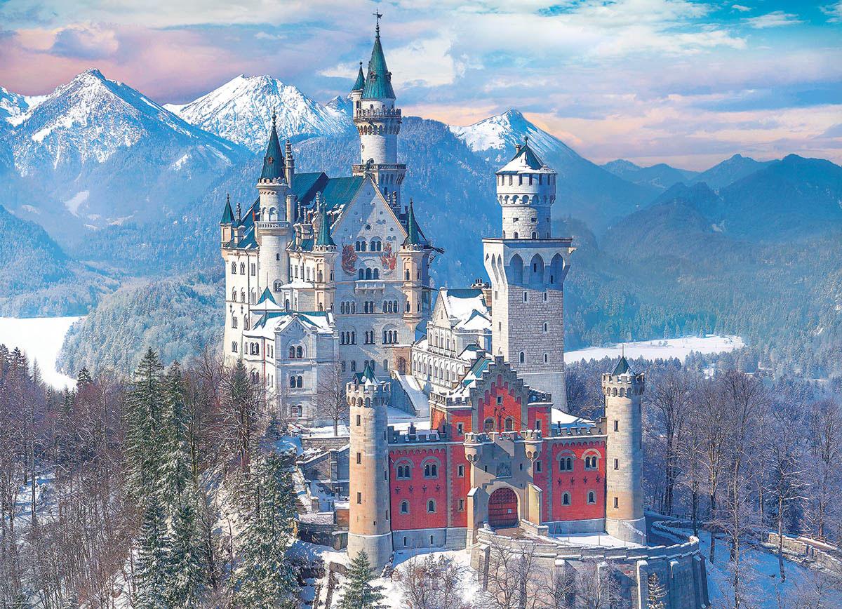 Neuschwanstein Castle in Winter Castles Jigsaw Puzzle