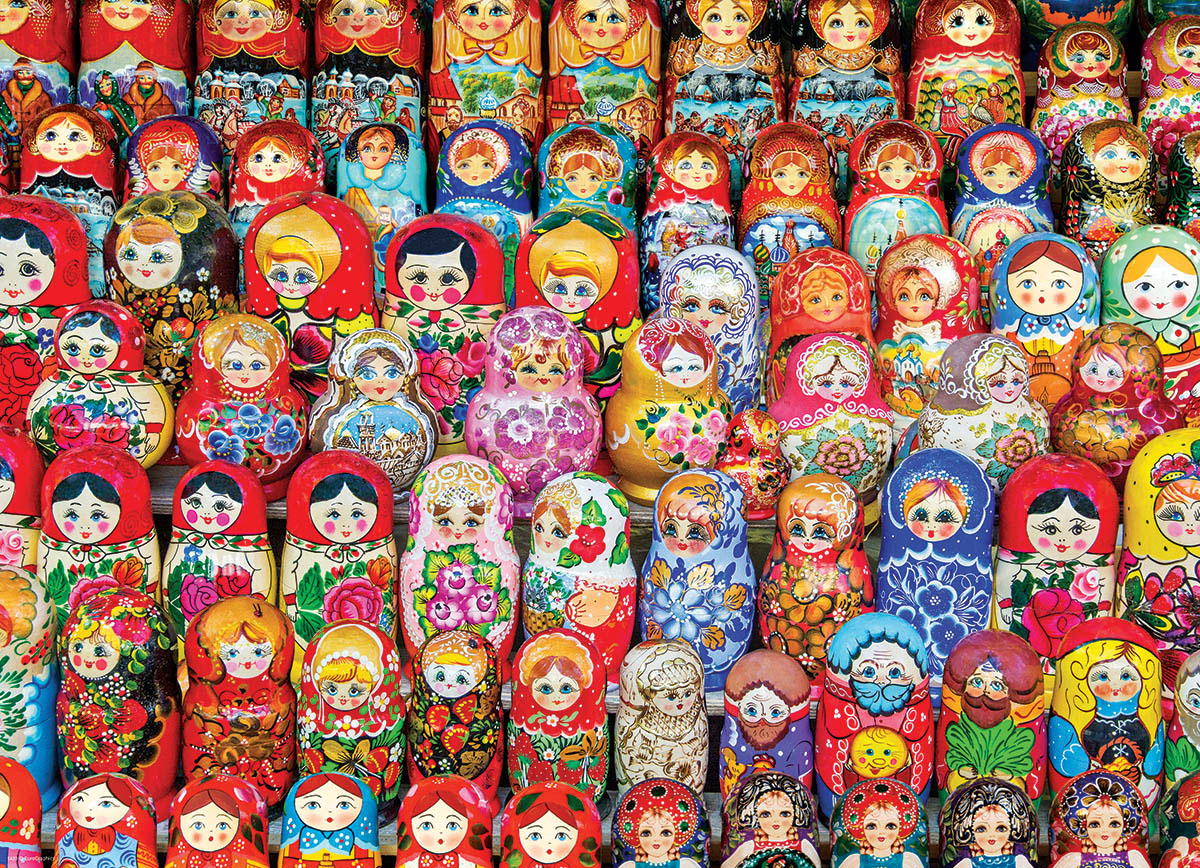 Russian Matryoshka Dolls - Scratch and Dent Russia Jigsaw Puzzle