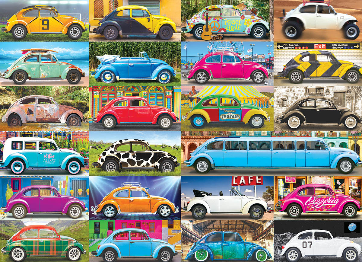 VW Beetle Gone Places Travel Jigsaw Puzzle