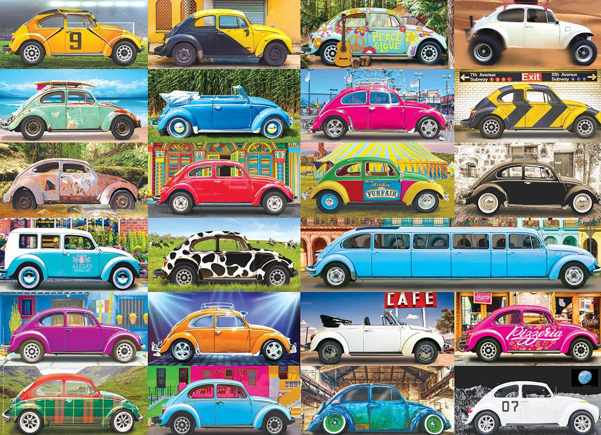VW Beetle Gone Places Travel Jigsaw Puzzle