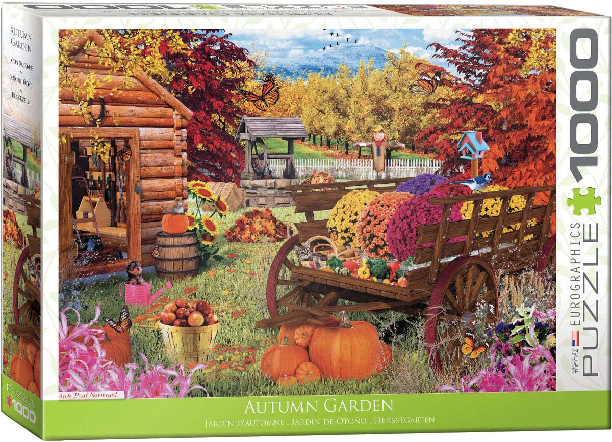 Autumn Garden Fall Jigsaw Puzzle