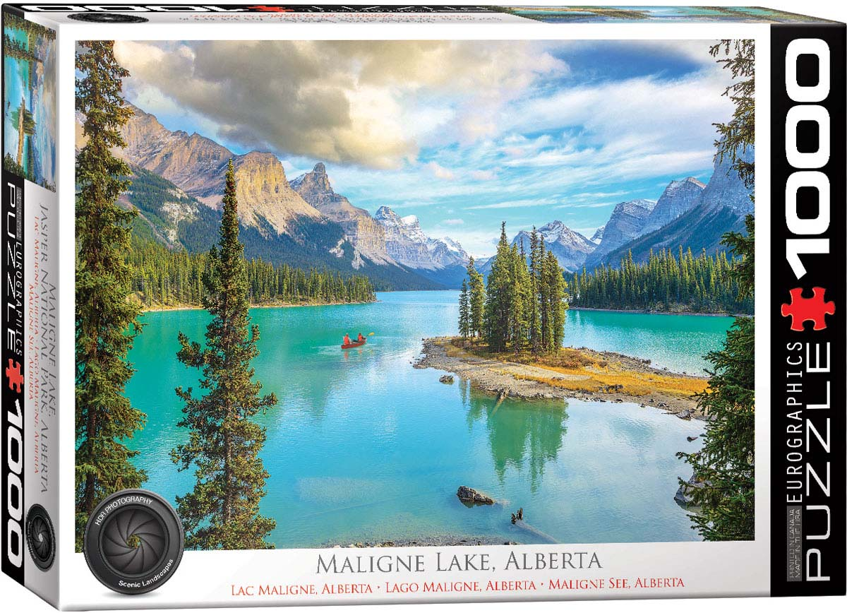 Maligne Lake, Alberta Landscape Jigsaw Puzzle