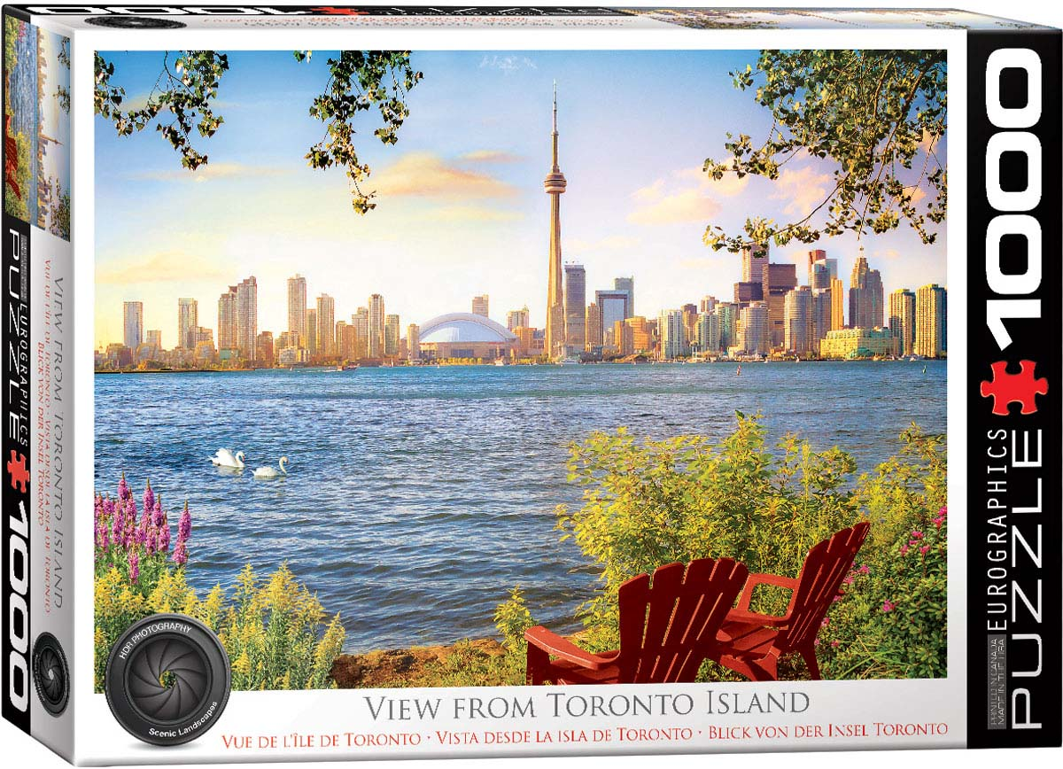 View from Toronto Island Photography Jigsaw Puzzle