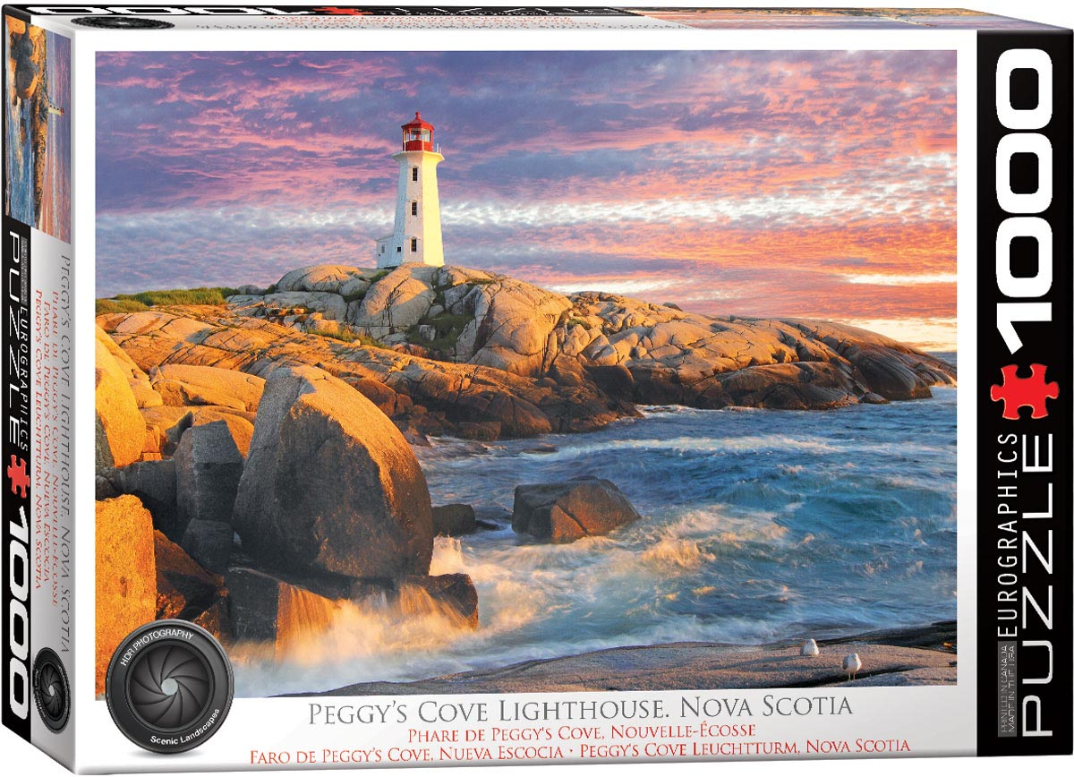 Peggy's Cove Lighthouse, Nova Scotia Lighthouses Jigsaw Puzzle