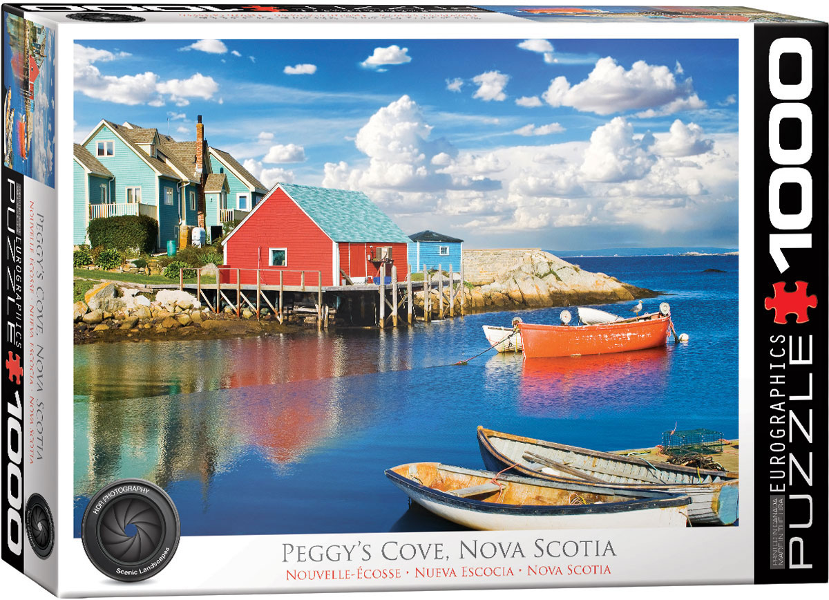 Peggy's Cove Nova Scotia Boats Jigsaw Puzzle