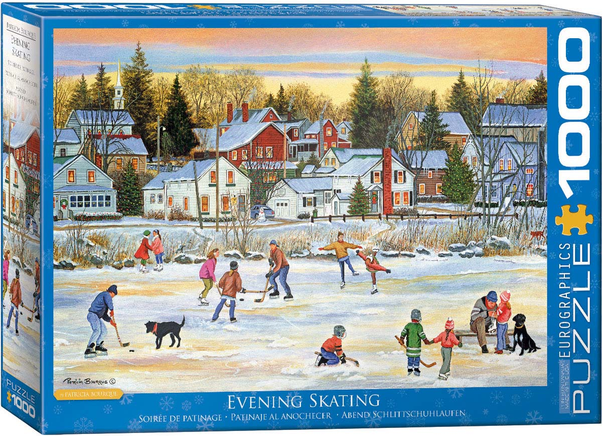 Evening Skating Winter Jigsaw Puzzle