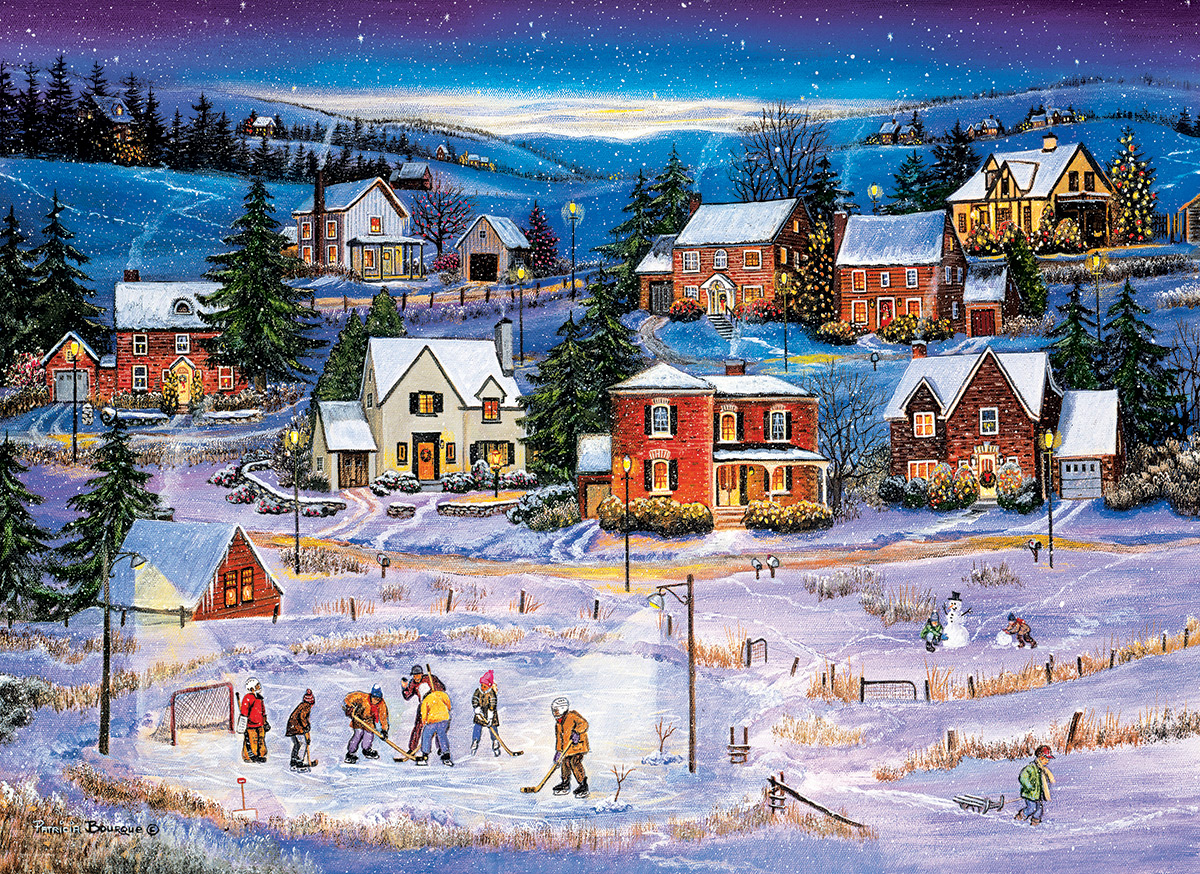 Stars on the Ice Winter Jigsaw Puzzle