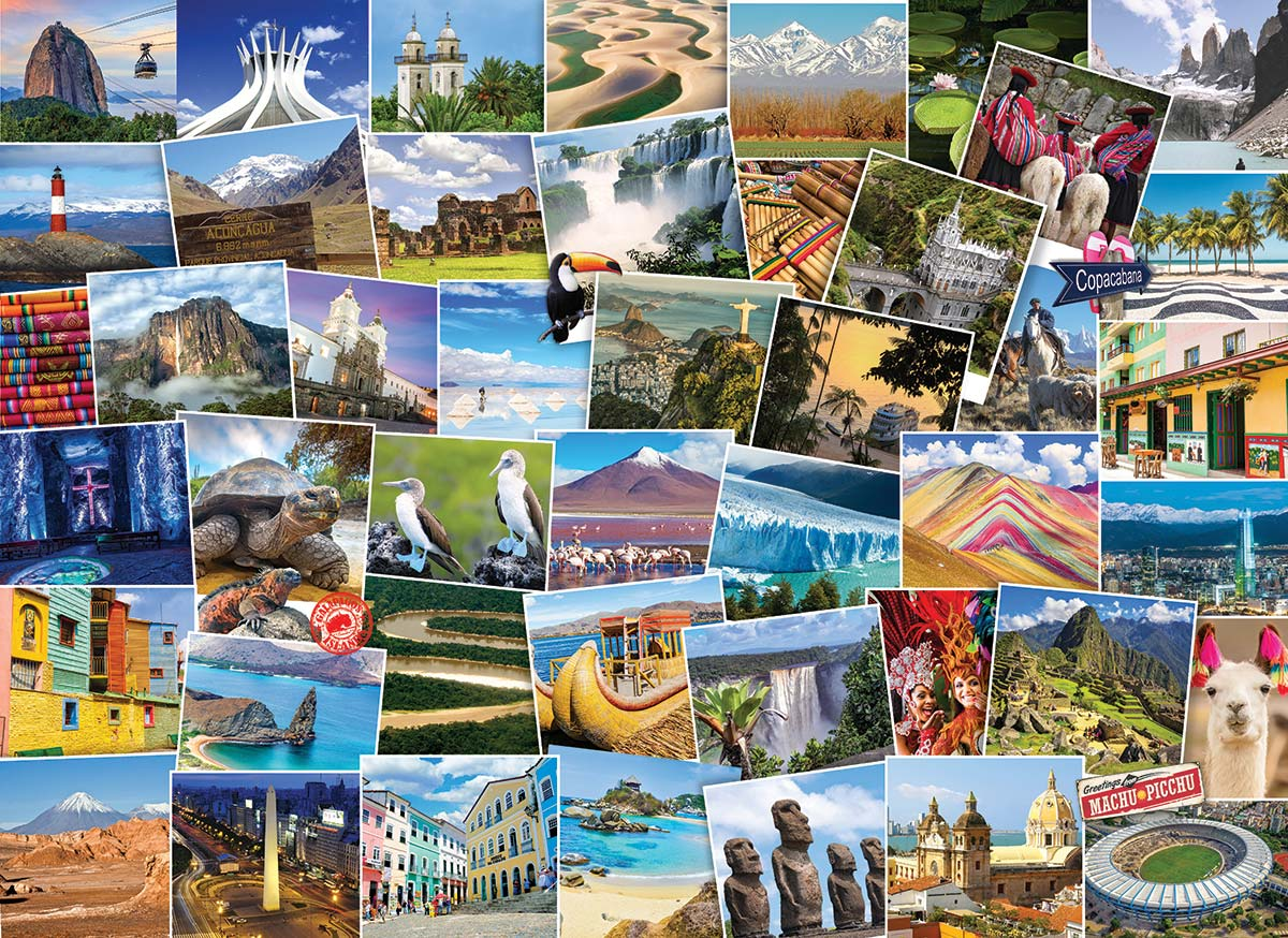 Globetrotter South America Travel Jigsaw Puzzle