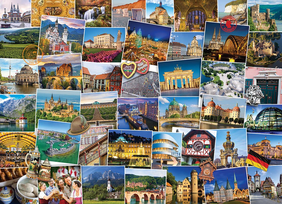 Globetrotter Germany Travel Jigsaw Puzzle