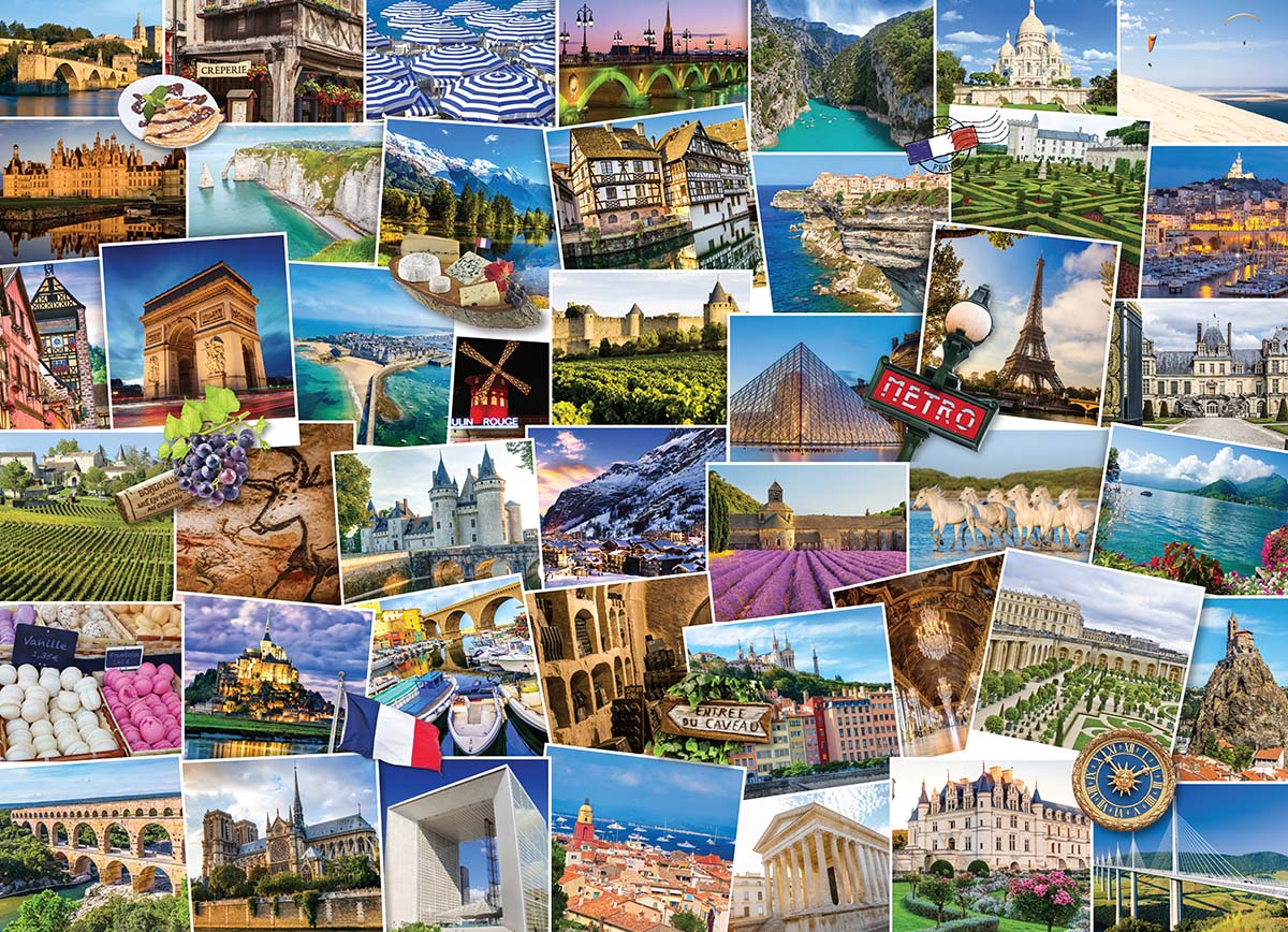Globetrotter France Travel Jigsaw Puzzle