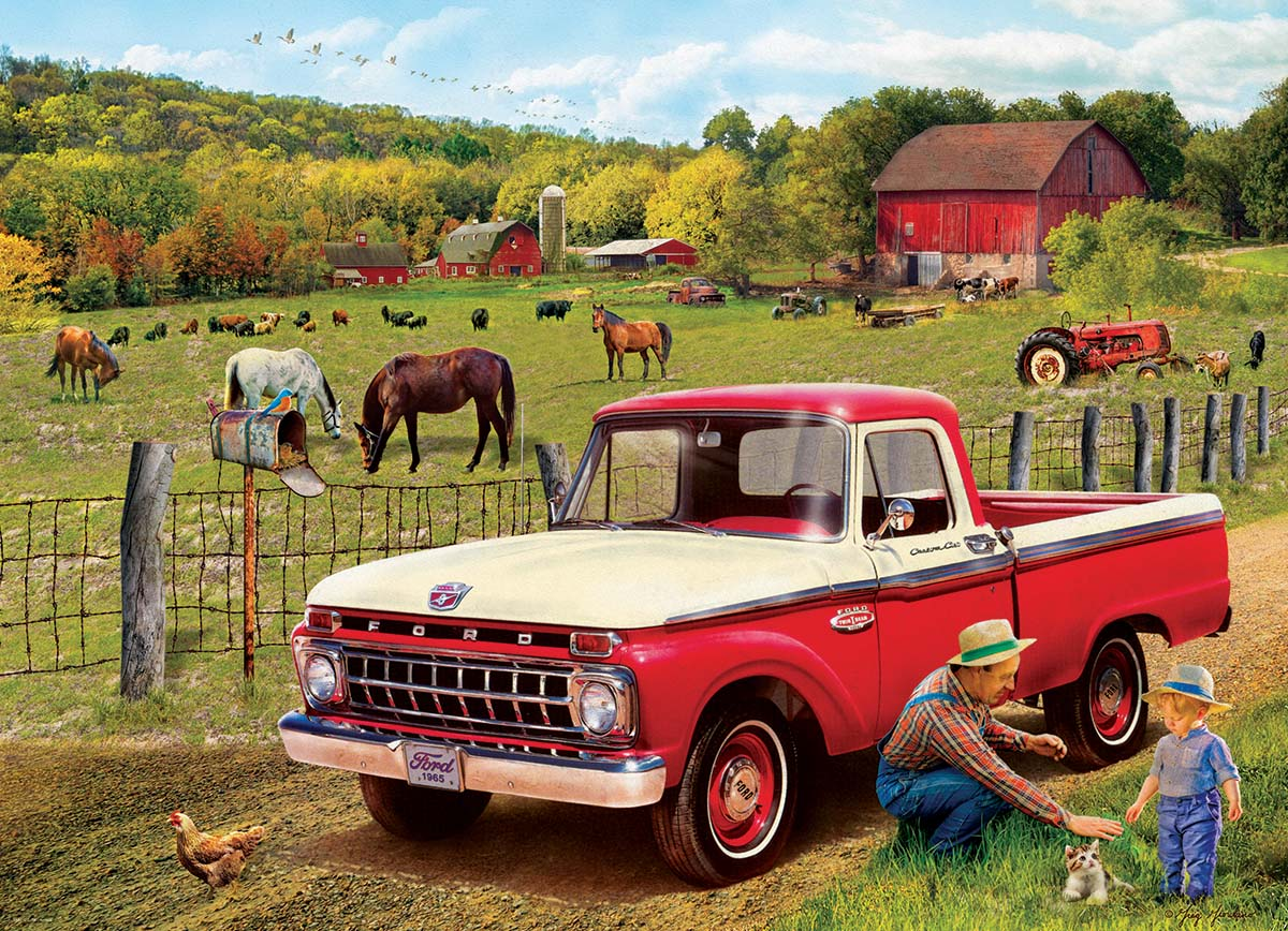 1965 Ford F-100 Farm Jigsaw Puzzle