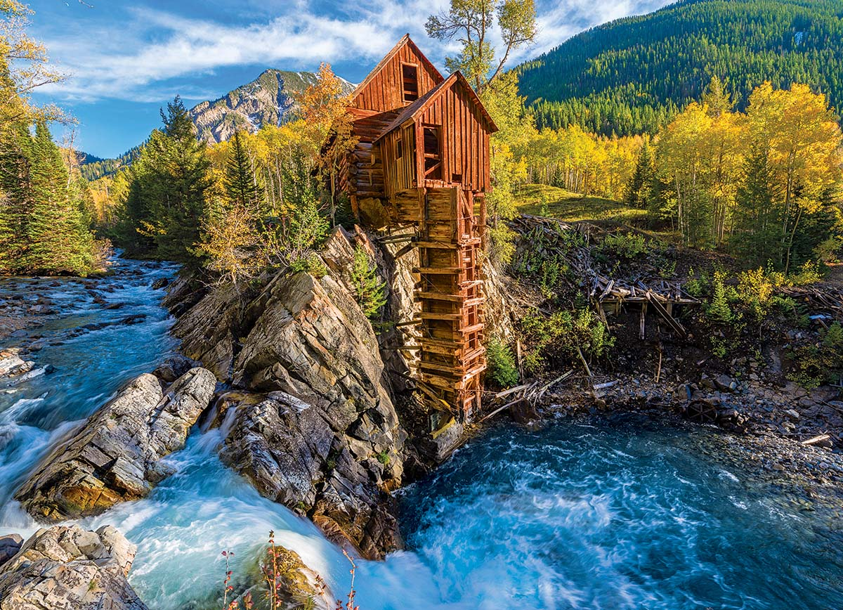 Crystal Mill Mountains Jigsaw Puzzle