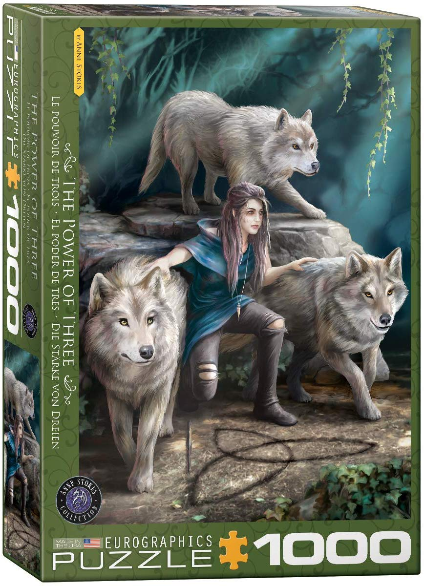The Power of Three Wolves Jigsaw Puzzle