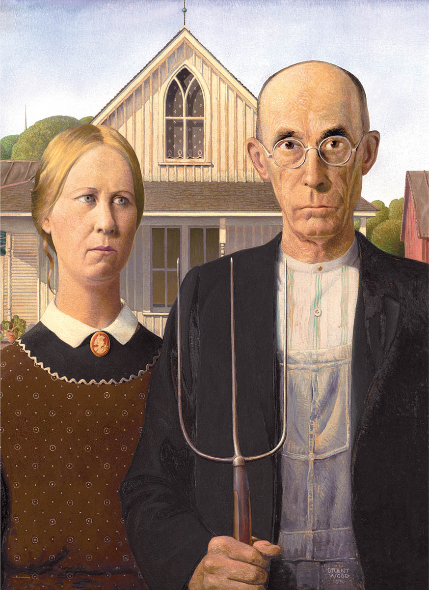 American Gothic Fine Art Jigsaw Puzzle