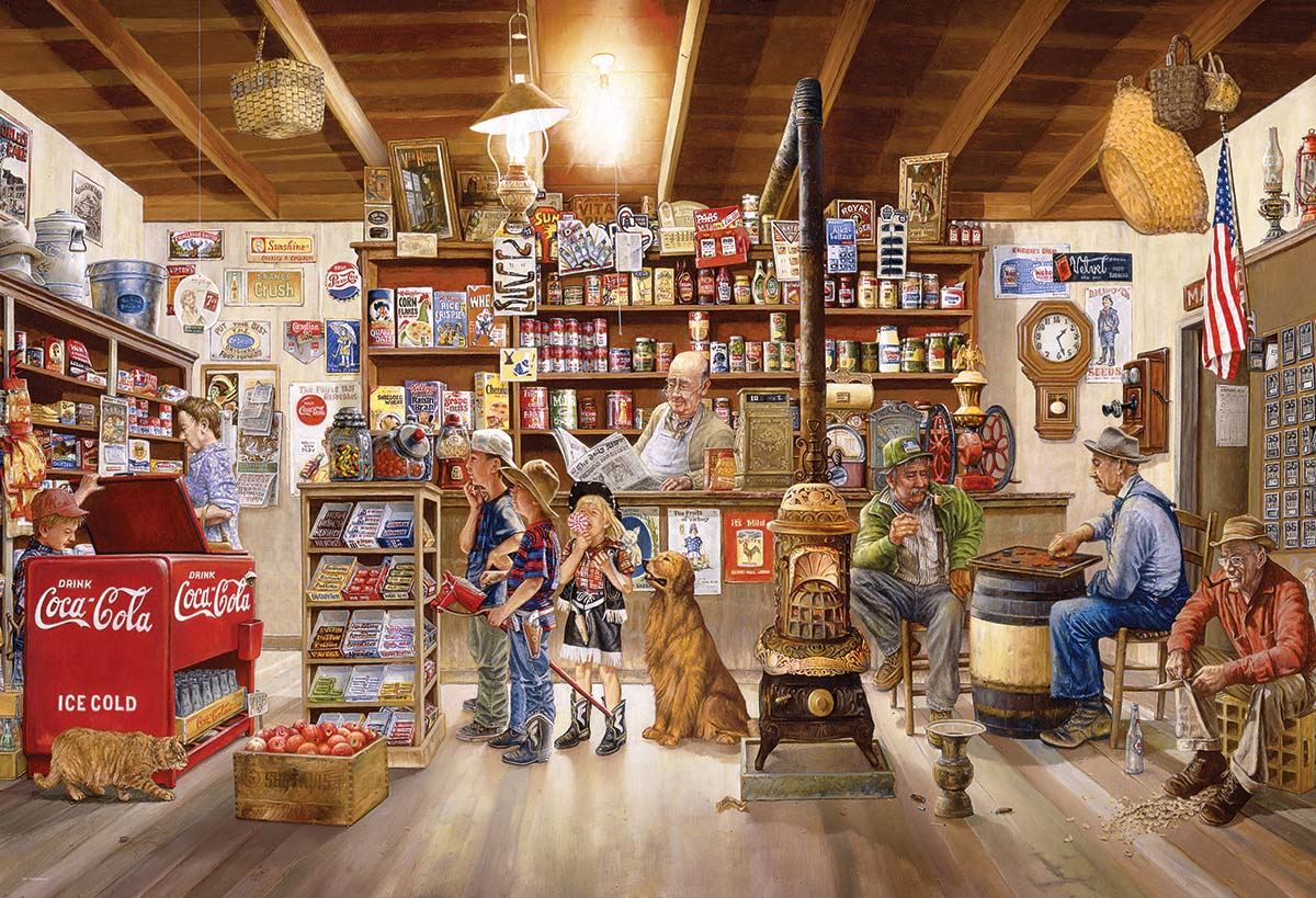 The General Store Americana & Folk Art Jigsaw Puzzle
