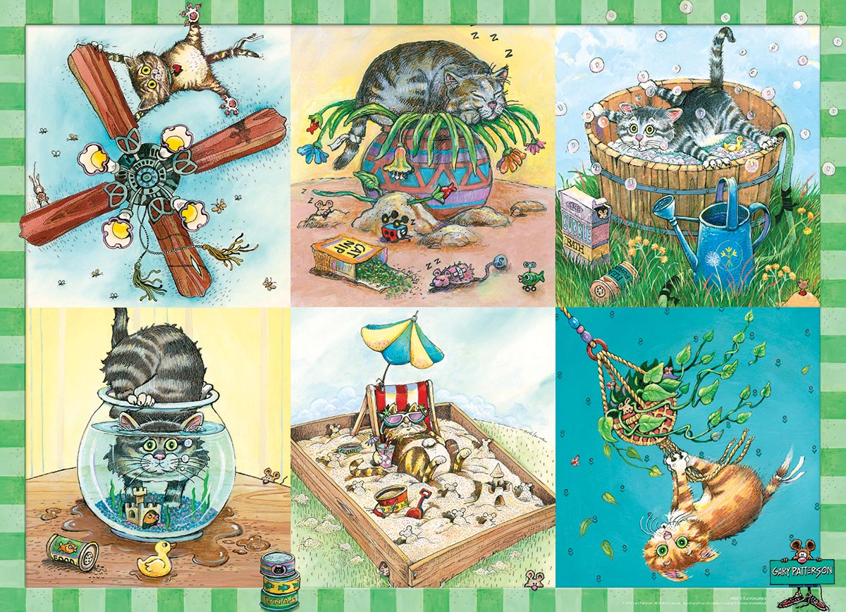 Kitten Trouble Cats Jigsaw Puzzle