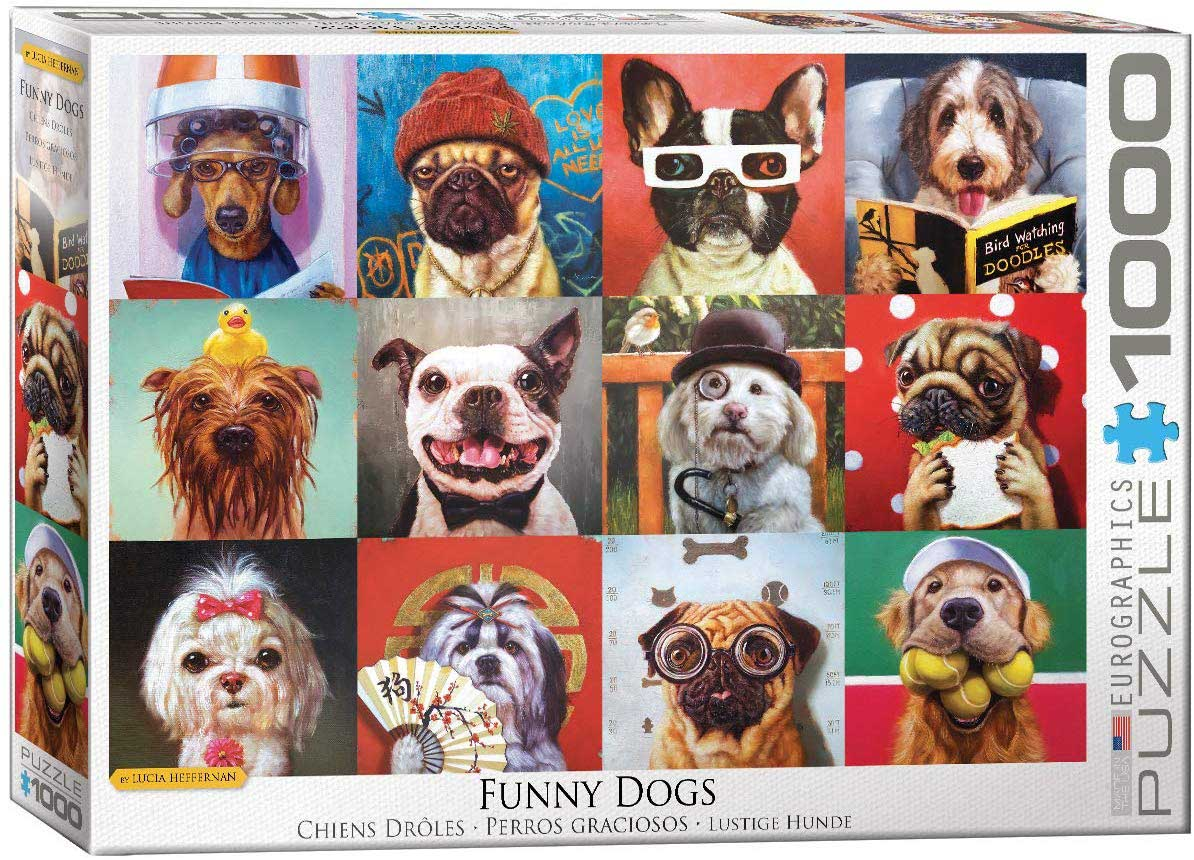 Funny Dogs Dogs Jigsaw Puzzle
