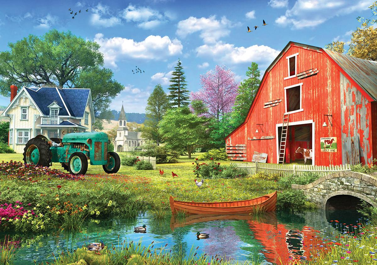 The Red Barn Farm Jigsaw Puzzle