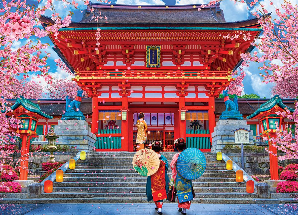 Spring Sakura Travel Jigsaw Puzzle