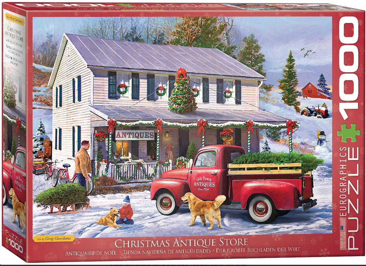 Christmas Antique Store Cars Jigsaw Puzzle
