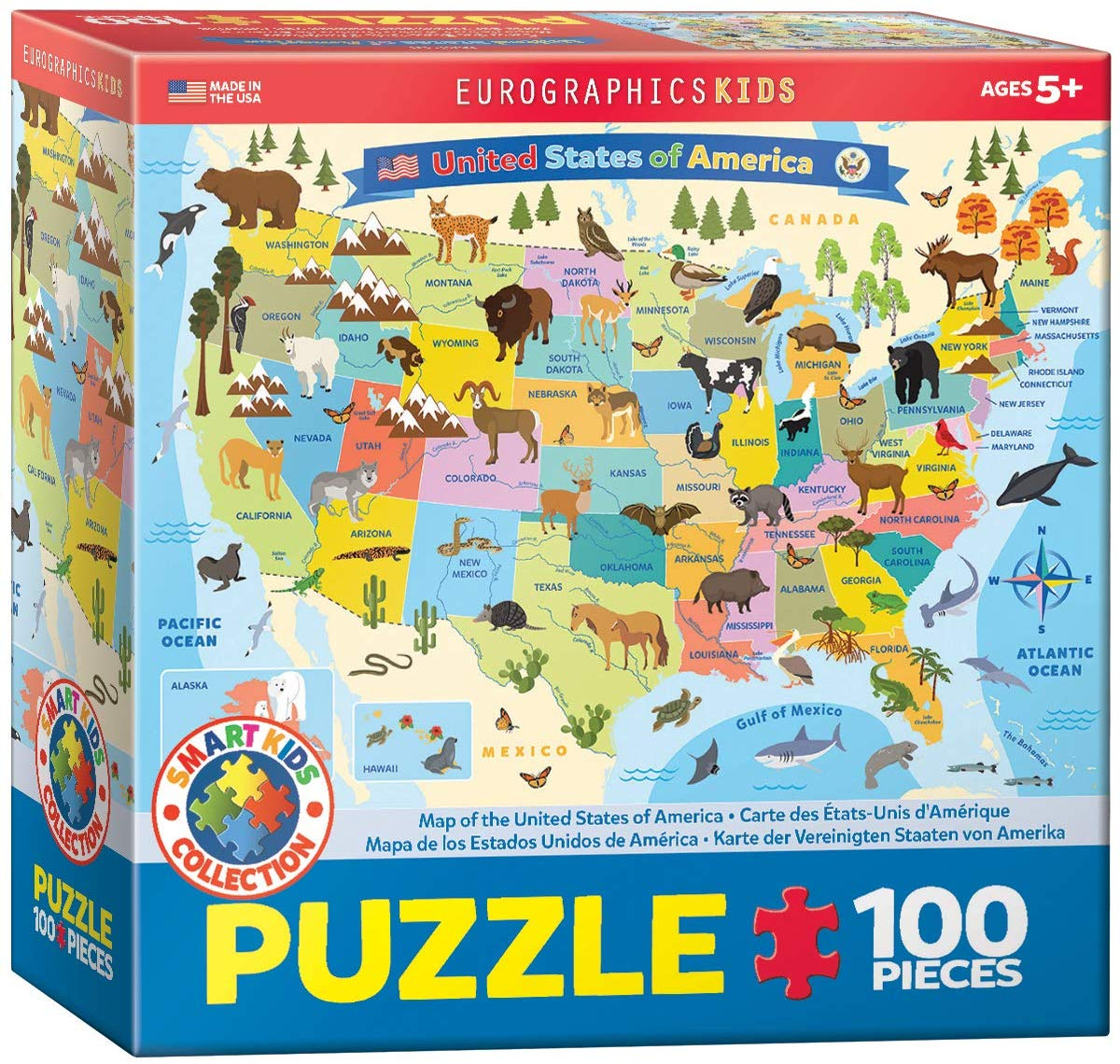 United States Map Illustrated Maps / Geography Jigsaw Puzzle