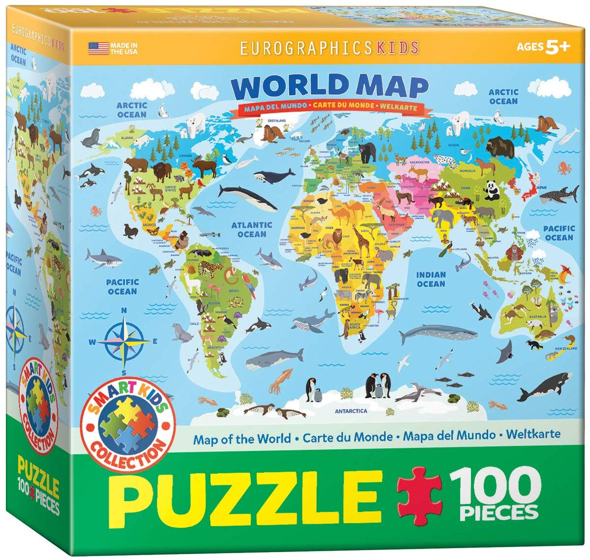 World Map Illustrated Maps / Geography Jigsaw Puzzle