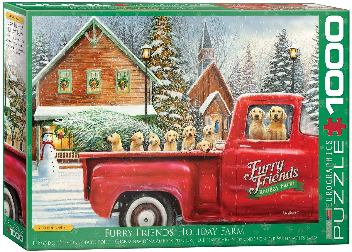 Furry Friends Holiday Farm Farm Jigsaw Puzzle