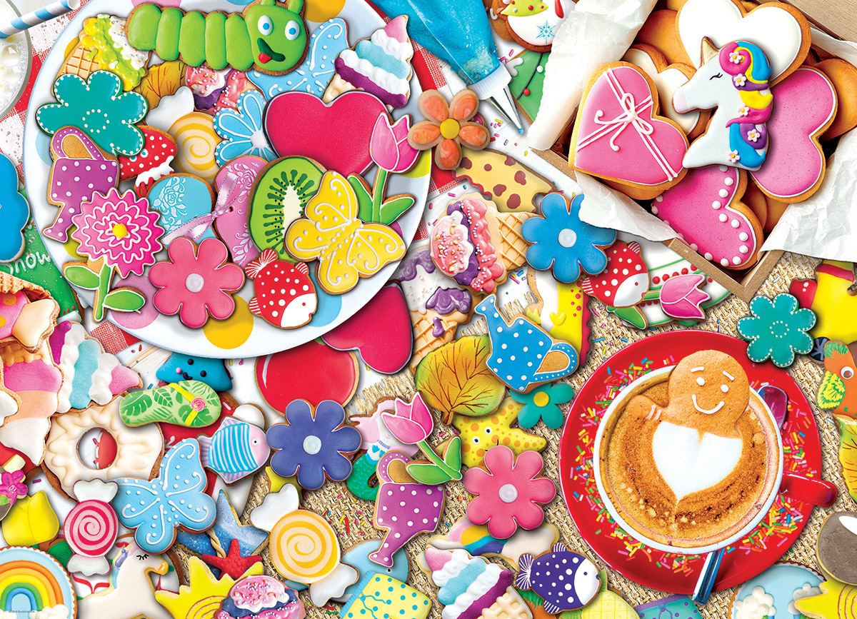 Cookie Party - Tin Packaging Sweets Jigsaw Puzzle