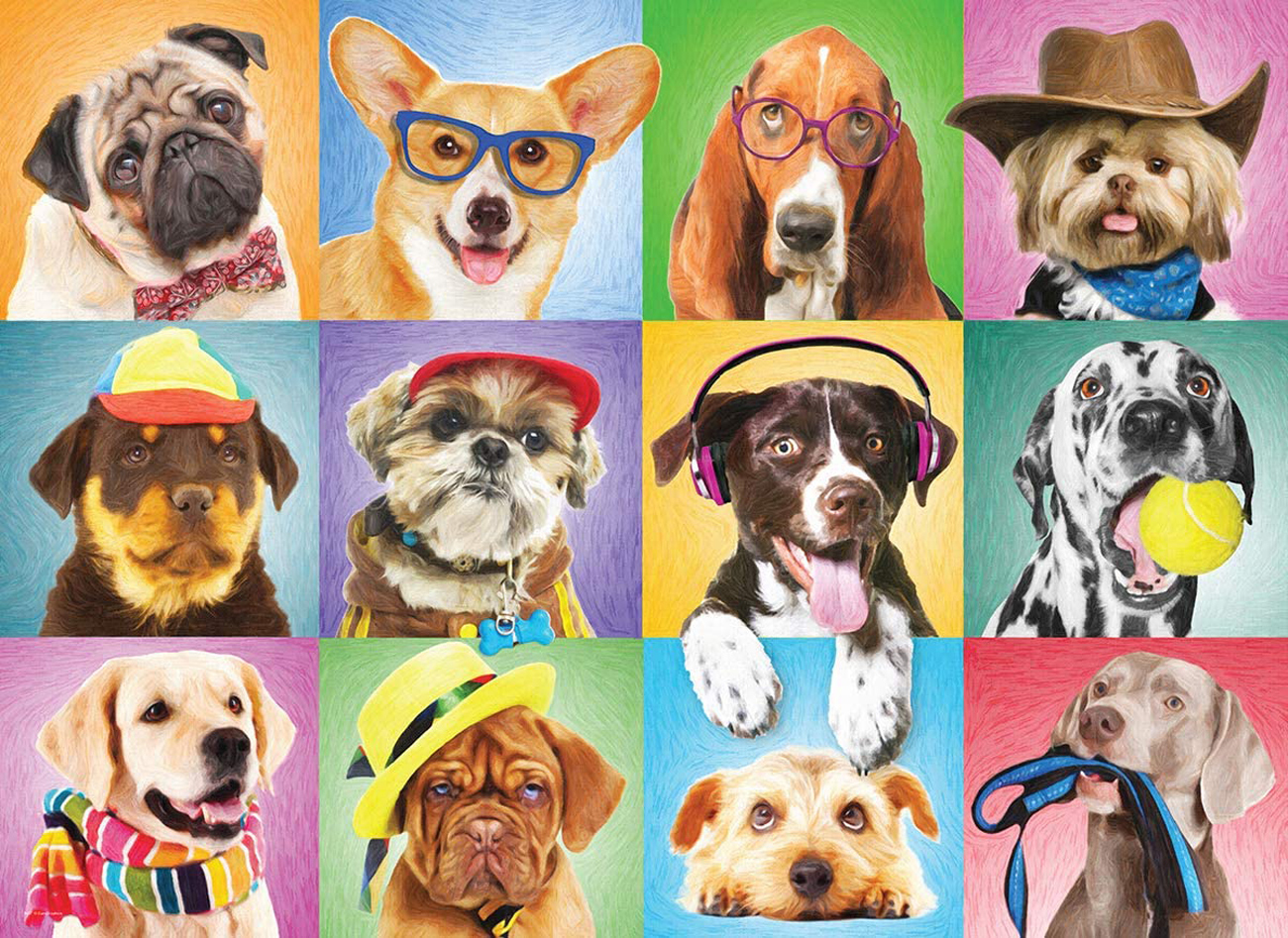Silly Dogs - Scratch and Dent Dogs Jigsaw Puzzle