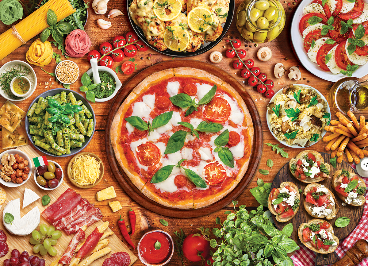 Italian Table Food and Drink Jigsaw Puzzle