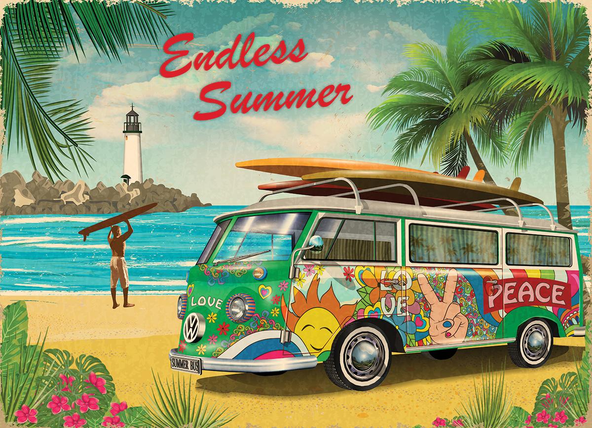VW Endless Summer - Scratch and Dent Summer Jigsaw Puzzle