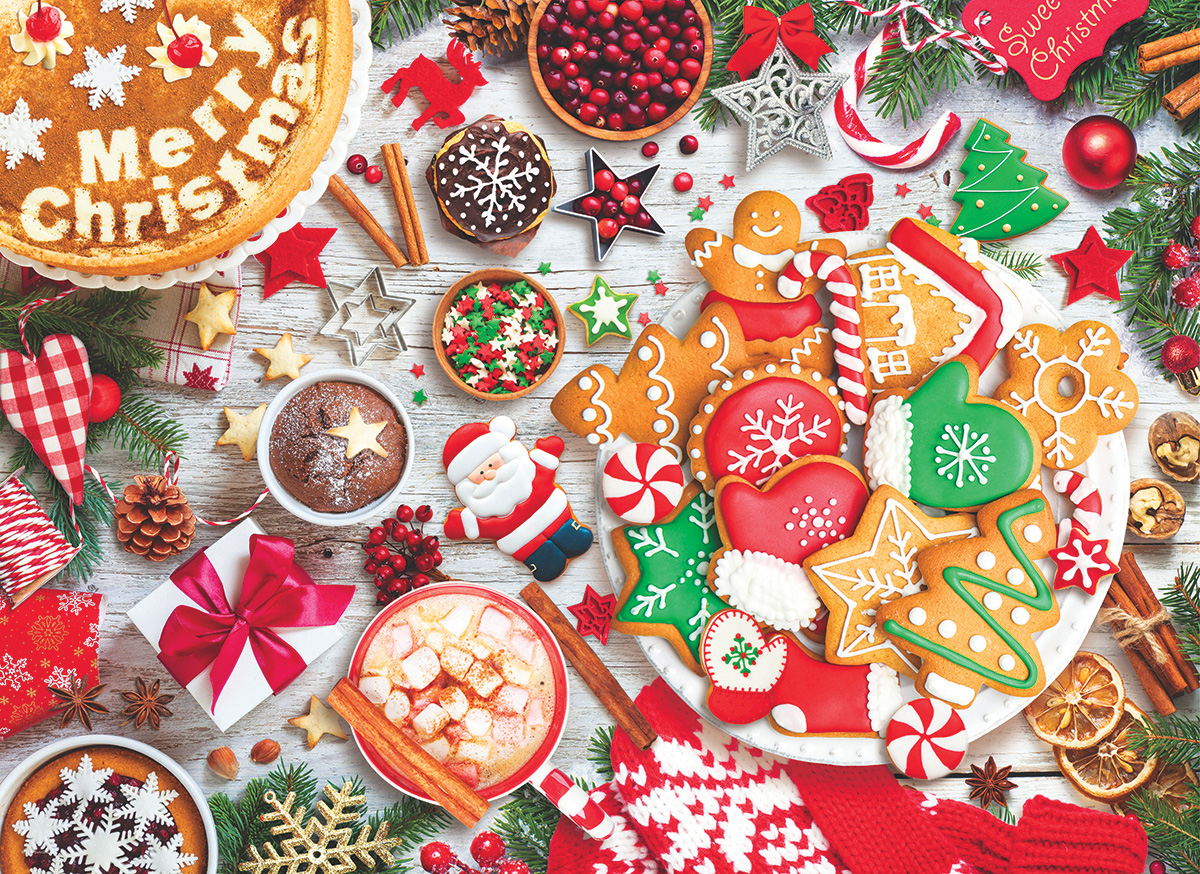 Christmas Table Food and Drink Jigsaw Puzzle