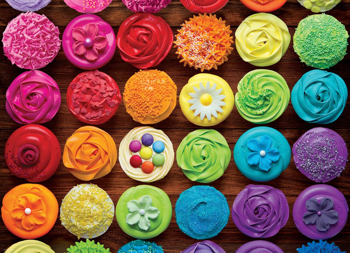Cupcake Rainbow Food and Drink Jigsaw Puzzle