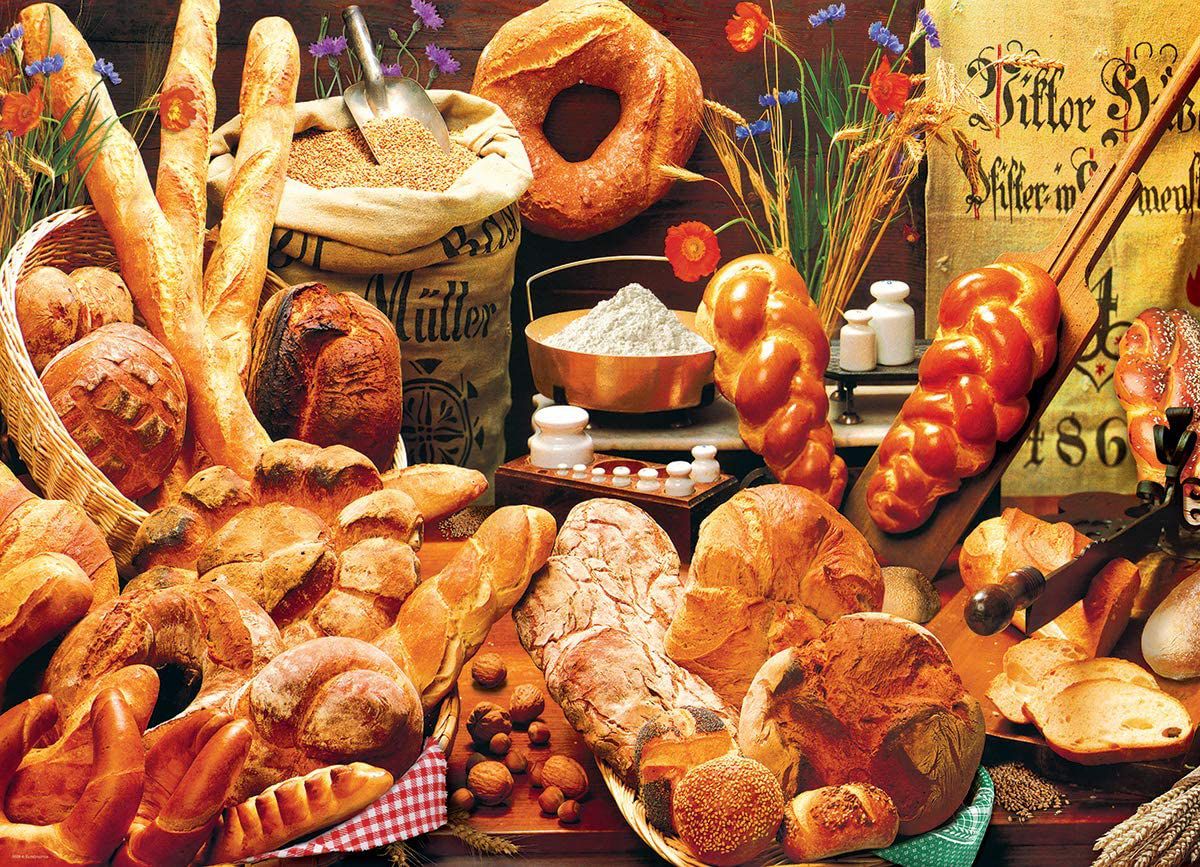 Bread Table - Scratch and Dent Food and Drink Jigsaw Puzzle