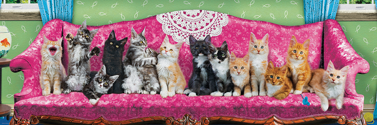 Kitty Cat Couch Cats Jigsaw Puzzle