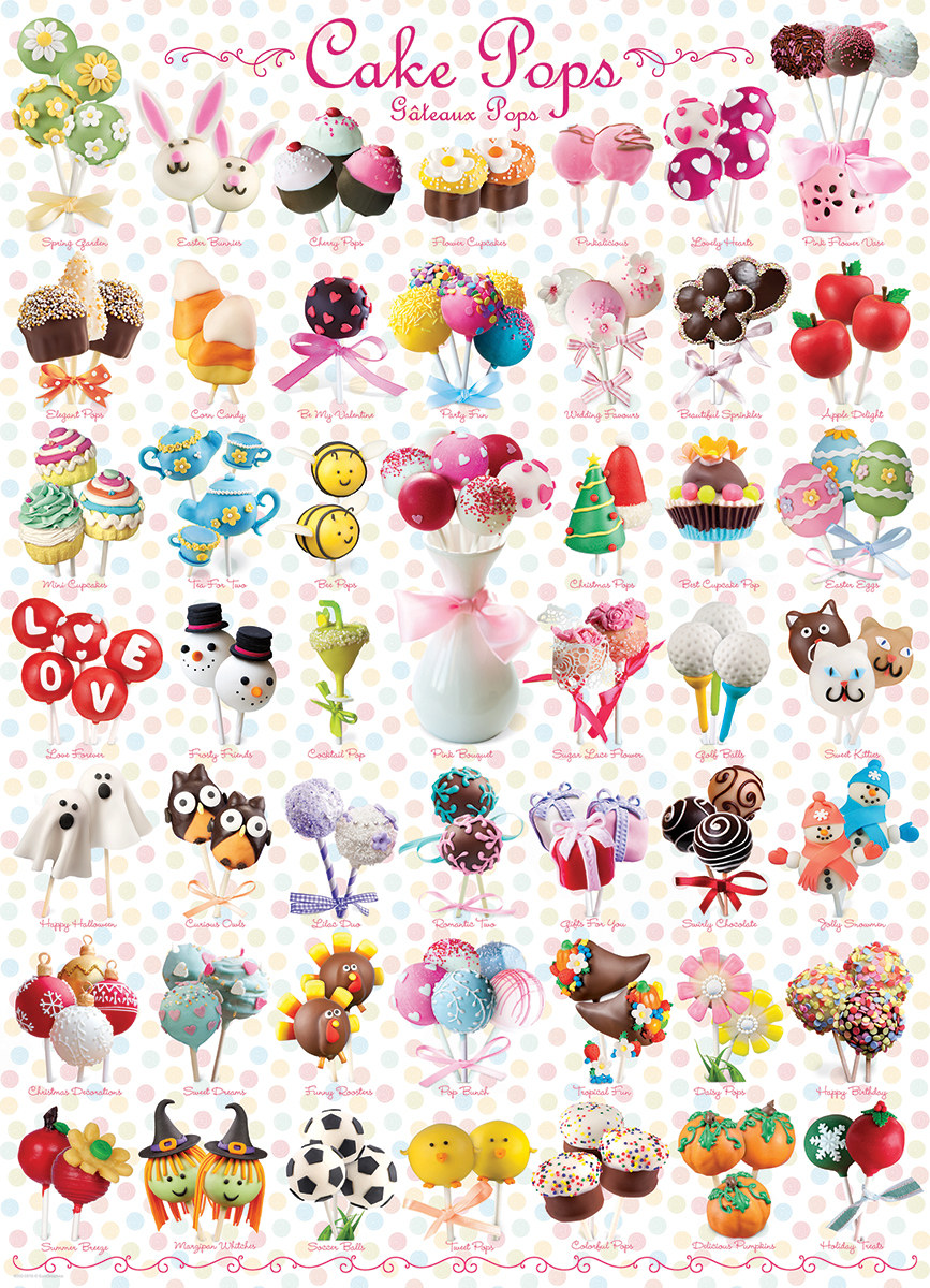 Cake Pops (Small Box) Sweets Jigsaw Puzzle