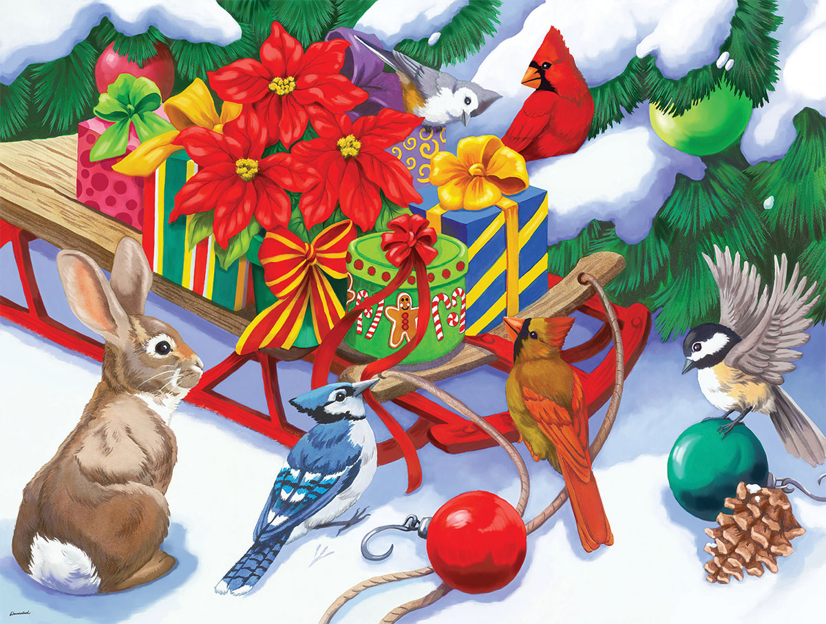 Sled full of Presents Christmas Jigsaw Puzzle