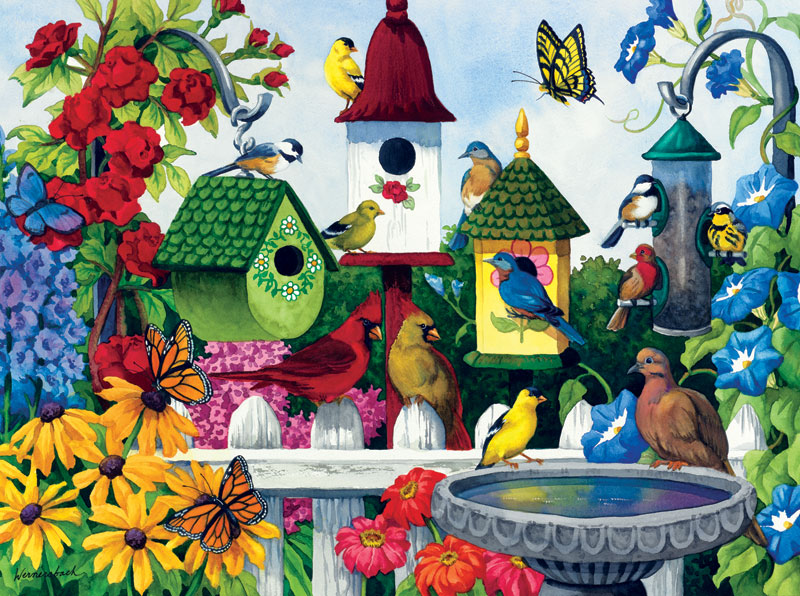 Birdhouse Heaven Birds Jigsaw Puzzle