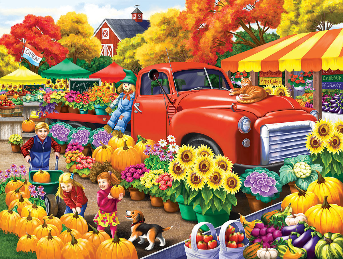 Marketplace Farm Jigsaw Puzzle