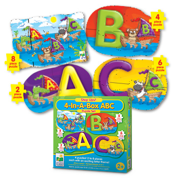 Step Ups! 4-in-a-Box Puzzles - ABCs Educational Jigsaw Puzzle