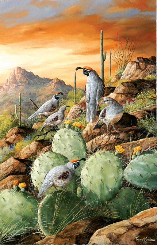 Sonoran Sunset Birds Jigsaw Puzzle