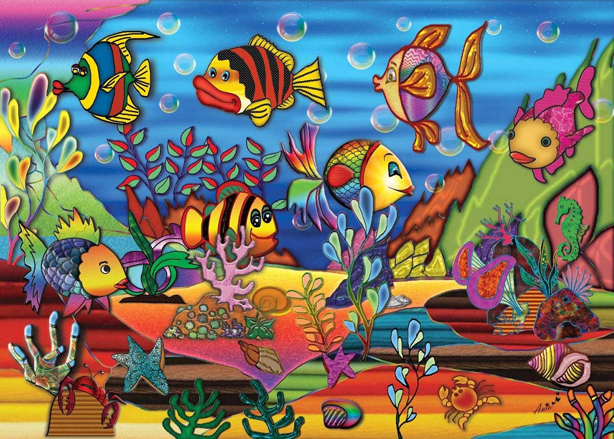 Color The Sea Under The Sea Jigsaw Puzzle