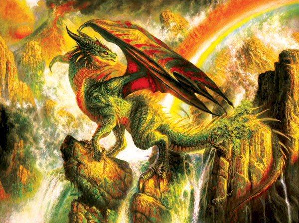 Rainbow Dragon Dragons Jigsaw Puzzle