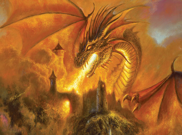 Fire Storm Dragons Jigsaw Puzzle